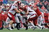 Wisconsin running back James White (20) tries to break a tackle during the game between the Indiana Hoosiers and the Wisconsin Badgers at Camp Randall Stadium, Madison, Wisconsin.  Wisconsin defeated Indiana 83-20.  Mandatory Credit: John Rowland / Southcreek Global