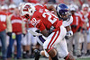 Wisconsin running back James White (20) breaks a tackle on the way to another big gain during the game between the Northwestern Wildcats and the Wisconsin Badgers at Camp Randall Stadium, Madison, Wisconsin.  Wisconsin defeated Northwestern 70-23.  Mandatory Credit: John Rowland / Southcreek Global