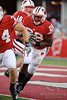 Wisconsin running back Montee Ball (28) carries the ball during the game between the Northwestern Wildcats and the Wisconsin Badgers at Camp Randall Stadium, Madison, Wisconsin.  Wisconsin defeated Northwestern 70-23.  Mandatory Credit: John Rowland / Southcreek Global