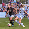 The NCAA PAC 12 Women's Soccer game between the University of Colorado Buffaloes (CU) and the Iowa Hawkeyes (IA) at Prentup Field in Boulder, Colorado.   Final score of the game was CU Buffaloes - 4 and Iowa Hawkeyes - 1.