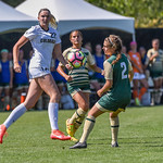 The University of Colorado Buffaloes (CU) vs the Colorado State University Rams (CSU) Women's Soccer game at the NCAA Pac 12 Women's Soccer Colorado Cup Tournament at Prentup Field in Boulder, Colorado.   Final score of the game was CU Buffaloes -2 and CSU Rams - 1.