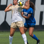 The NCAA Women's Soccer game between the University of Colorado Buffaloes (CU) and the Brigham Young University Cougars at Prentup Field in Boulder, Colorado.  Final score of the game was CU Buffaloes - 3 and the BYU Cougars - 0.