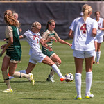 The NCAA Colorado Cup Women's Soccer Tournament game between the Colorado State University Rams (CSU) and the University of Denver Pioneers (DU) at Prentup Field in Boulder, Colorado on August 20, 2017.  Final score of the game, in overtime, was CSU Rams - 0 and DU Pioneers - 1.