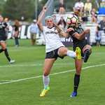 The NCAA PAC 12 Women's Soccer game between the University of Colorado Buffaloes (CU) and the University of Hawai'i (HA) at Prentup Field in Boulder, Colorado.   Final score of the game was CU Buffaloes - 3 and Hawai'i - 1.