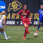 The University of Denver Pioneer Women(DU) vs the Colorado College Tigers (CC) Women's Soccer game at the NCAA Pac 12 Women's Soccer Colorado Cup Tournament at Prentup Field in Boulder, Colorado.   Final score of the game was DU Pioneer Women - 0 and Colorado College Tigers - 3.