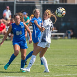 The NCAA Colorado Cup Women's Soccer Tournament game between the Air Force Falcons  (AF) and the Northern Colorado Bears (NC) at Prentup Field in Boulder, Colorado on August 20, 2017.  Final score of the game was Air Force Falcons - 0 and Northern Colorado Bears - 2.
