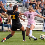 The PAC12 Women's Soccer game between the University of Colorado Buffaloes (CU) and the Arizona State Sun Devils (AS) at Prentup Field in Boulder, Colorado.  Final score of the game was the CU Buffaloes - 3 and Arizona State Sun Devils - 0.
