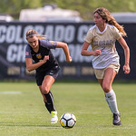 The NCAA Colorado Cup Women's Soccer Tournament game between the University of Colorado Buffaloes (CU) and the Colorado College (CC) Tigers at Prentup Field in Boulder, Colorado on August 20, 2017.  Final score of the game, in overtime, was CU Buffaloes - 1 and Colorado College Tigers - 0.