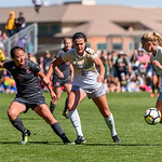 The PAC12 Women's Soccer game between the University of Colorado Buffaloes (CU) and Stanford University Cardinal (ST) at Prentup Field in Boulder, Colorado.  Final score of the game was the Stanford Cardinal - 3  and CU Buffaloes - 0.