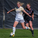 The PAC12 Women's Soccer game between the University of Colorado Buffaloes (CU) and Stanford University (ST) at Prentup Field in Boulder, Colorado.  Final score of the game was Stanford - 3 and the CU Buffaloes - 0.