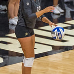 The NCAA PAC12 Women's Volleyball game between the University of Colorado Buffaloes (CU) and the Abilene Christian University Wildcats (AC) at Coors Event Center at the University of Colorado in Boulder, Colorado.  Final score of the game was CU Buffaloes - 3 and the Abilene Christian University Wildcats  - 0.