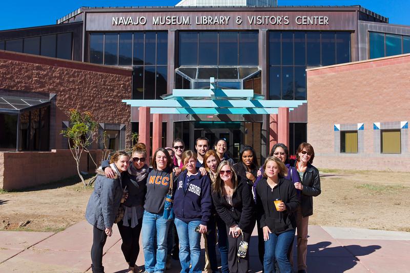 Northampton studetns visti the Navajo museum