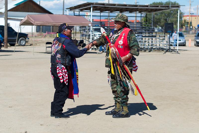 Veterans participate in pow wow
