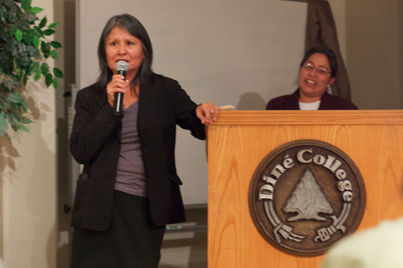 Diné College president Maggie George