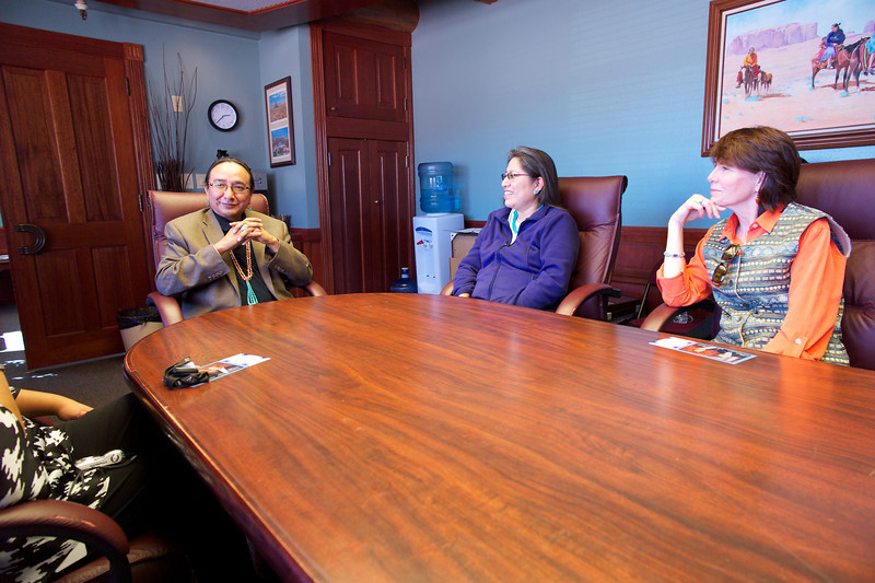 Meeting with the Vice President of the Navajo Nation Rex Lee Jim