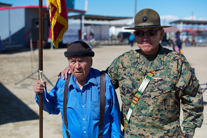 One of the last remaining Code Talkers from WWII State Senator John Pinto.