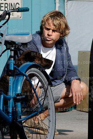Eric Christian Olsen during the set of the TV Show NCIS LOS ANGELES in Venice California.
