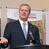 North Central MA Chamber of Commerce's November breakfast featured Governor Charlie Baker and local author Mark Bodanza. It was sponsored by Montachusett Regional Vocational Technical School. Gov. Baker addresses the crowd at the breakfast. SENTINEL & ENTERPRISE/JOHN LOVE