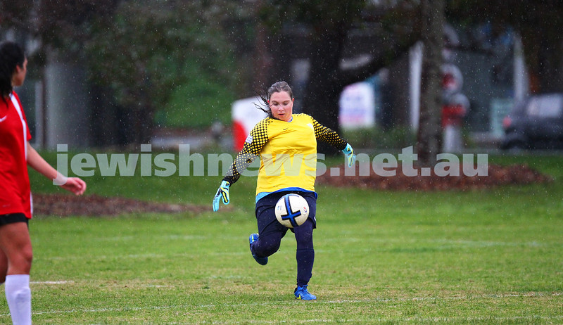 12-7-15. NCMFC. With scores level at 1 -1 at half time, North Caulfield Maccabi Women lost 2 - 6 to La Trobe University at Caulfield Park. Photo: Peter Haskin