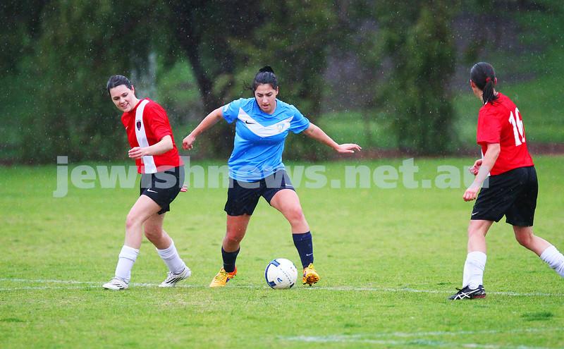 12-7-15. NCMFC. With scores level at 1 -1 at half time, North Caulfield Maccabi Women lost 2 - 6 to La Trobe University at Caulfield Park. Photo: Peter Haskin