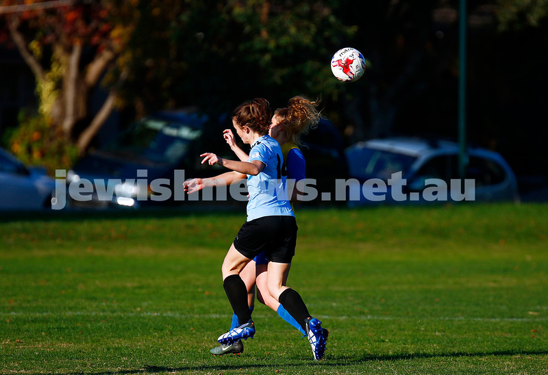 4-6-17. North Caufield Maccabi Football Club. NCMFC Women drew 3 -3 with Whitehorse United at Caulfield Park. Photo: Peter Haskin