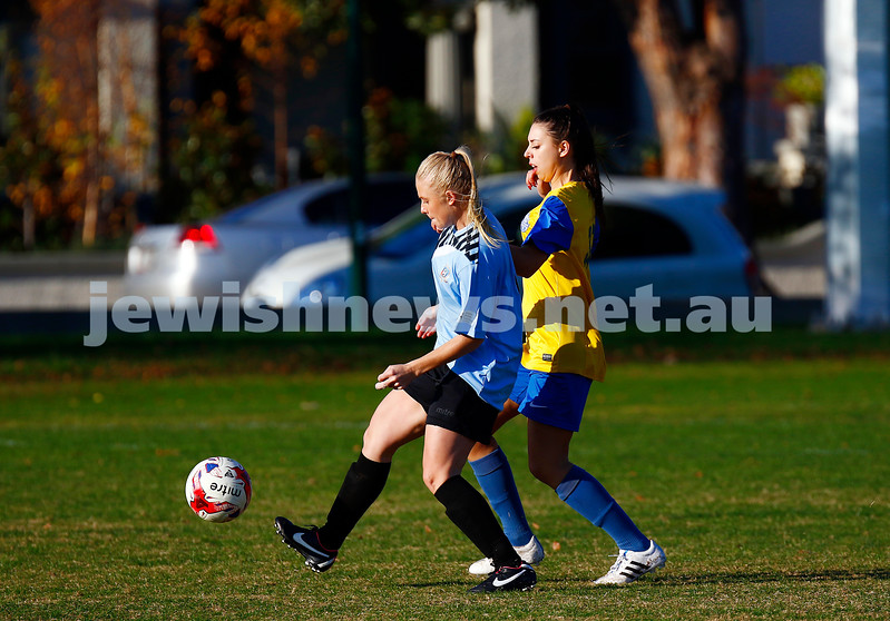 4-6-17. North Caufield Maccabi Football Club. NCMFC Women draw 3 -3 with Whitehorse United at Caulfield Park. Photo: Peter Haskin