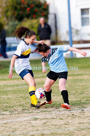 2-9-18. NCMFC Women defeated Whitehorse United 3 - 2 at Caulfield Park. Photo: Peter Haskin