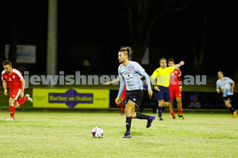29-3-17. North Caulfield Maccabi Football Club. Round five of FFA Cup. Grange Reseve, Clayton South. NCMFC lost to Kingston City 0 - 6. Photo: Peter Haskin