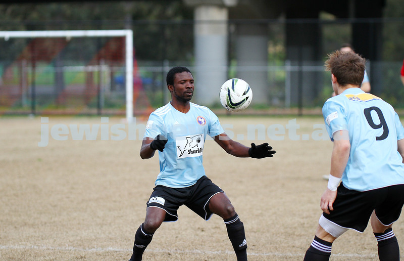 17-8-14. North Caulfield Maccabi defeated Old Scotch 3 - 1 at Old Scotch Oval.  Photo: Peter Haskin