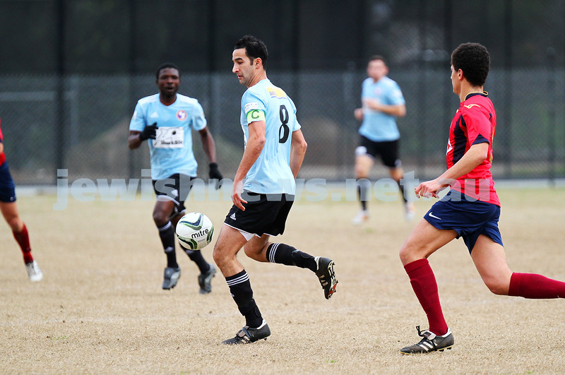 17-8-14. North Caulfield Maccabi defeated Old Scotch 3 - 1 at Old Scotch Oval.  Oran Harel. Photo: Peter Haskin