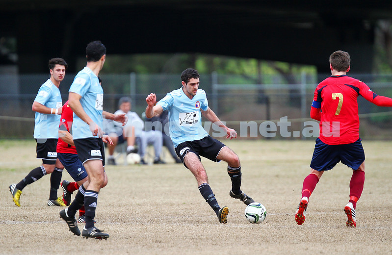 17-8-14. North Caulfield Maccabi defeated Old Scotch 3 - 1 at Old Scotch Oval.  Adam Fridman. Photo: Peter Haskin