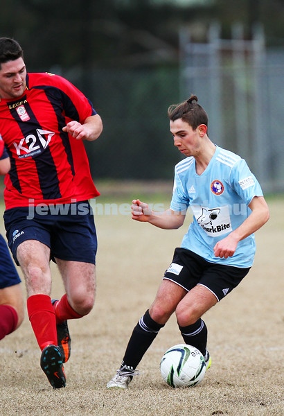 17-8-14. North Caulfield Maccabi defeated Old Scotch 3 - 1 at Old Scotch Oval.  Yonnie Lipshatz. Photo: Peter Haskin