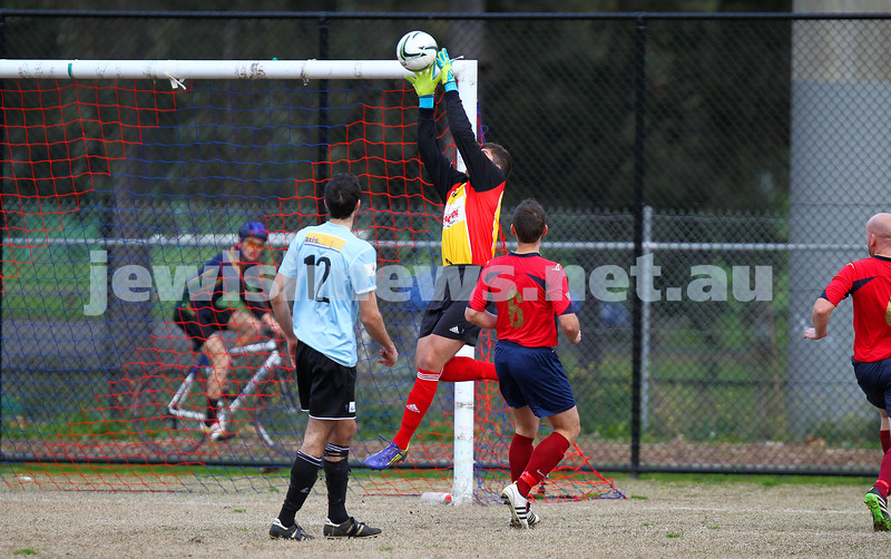 17-8-14. North Caulfield Maccabi defeated Old Scotch 3 - 1 at Old Scotch Oval.  Alexander Tsesmelis. Photo: Peter Haskin