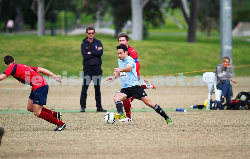 17-8-14. North Caulfield Maccabi defeated Old Scotch 3 - 1 at Old Scotch Oval.  Benji Schneider. Photo: Peter Haskin