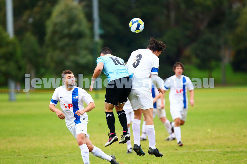 8-5-16. North Caulfield Maccabi Football Club (NCMFC) 4 def Penninsula Strikers 1. Caulfield Park.  Photo: Peter Haskin