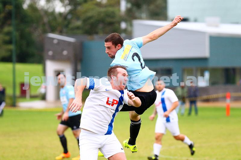 8-5-16. North Caulfield Maccabi Football Club (NCMFC) 4 def Penninsula Strikers 1. Caulfield Park.  Photo: Peter Haskin