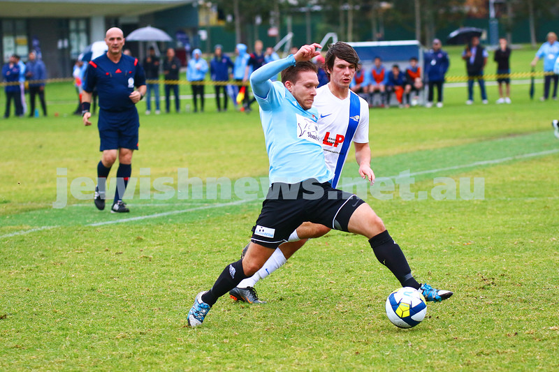 8-5-16. North Caulfield Maccabi Football Club (NCMFC) 4 def Penninsula Strikers 1. Caulfield Park. Ari Ritz. Photo: Peter Haskin