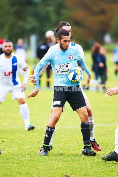 8-5-16. North Caulfield Maccabi Football Club (NCMFC) 4 def Penninsula Strikers 1. Caulfield Park. Daniel Sacks. Photo: Peter Haskin