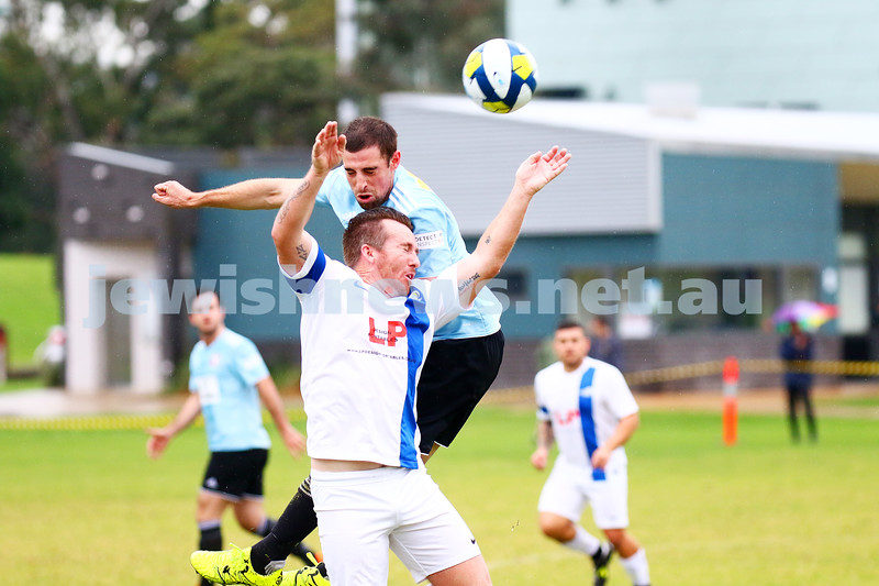 8-5-16. North Caulfield Maccabi Football Club (NCMFC) 4 def Penninsula Strikers 1. Caulfield Park. Tal Marom. Photo: Peter Haskin