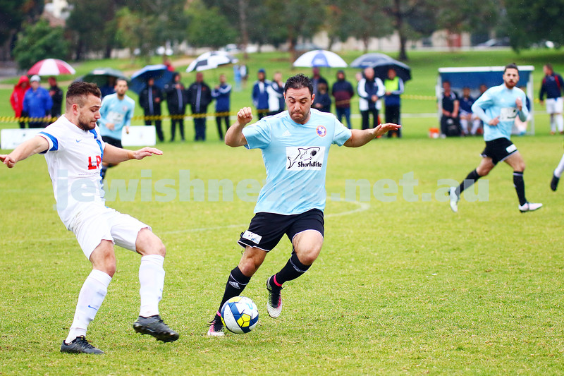 8-5-16. North Caulfield Maccabi Football Club (NCMFC) 4 def Penninsula Strikers 1. Caulfield Park. Gideon Sweet. Photo: Peter Haskin