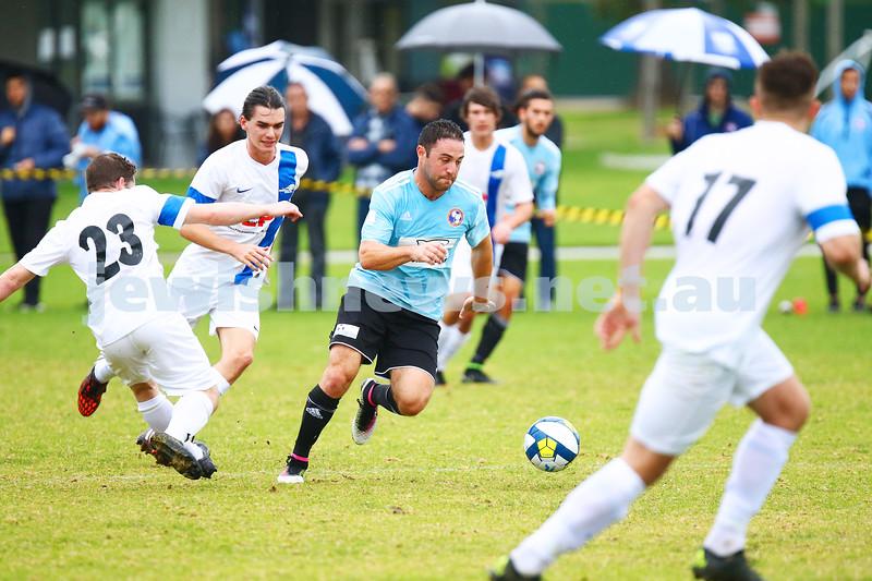 8-5-16. North Caulfield Maccabi Football Club (NCMFC) 4 def Penninsula Strikers 1. Caulfield Park. Gideon Sweet. Photo: Peter Haskin
