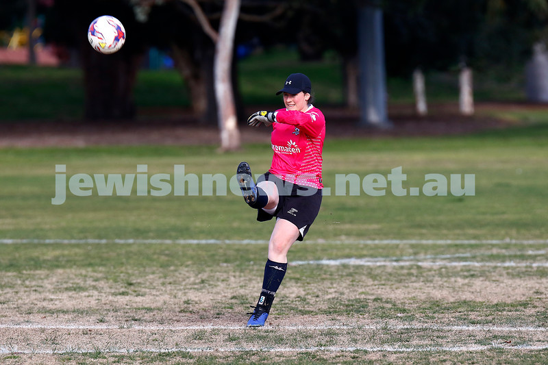 25-8-19. North Caulfield Maccabi Football Club (NCMFC) women v Skye United FC at Caulfield Park. Photo: Peter Haskin