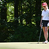 Heddie Djusberg of Ursuline stands on the green during the 2018 NCW Sectional Tournament held at Townsend Ridge Country Club on Monday.  SENTINEL & ENTEPRISE JEFF PORTER