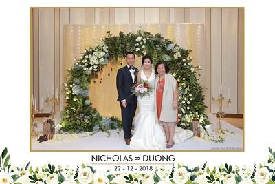 Nicholas & Duong Wedding instant print Photobooth - Chụp hình in ảnh lấy liền Tiệc cưới - WefieBox Photobooth Vietnam