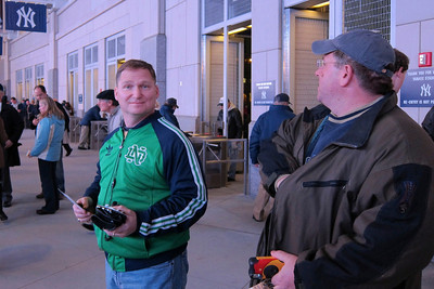 Mike surprised (and likely disappointed) that Tim made it through Yankee stadium security