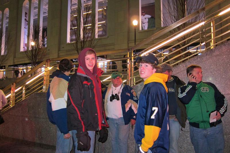 Luke Moran, Paul Tobin in foreground, Joe and Mike Stockrahm in the back.
