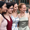 Posing for lots of photos for keepsakes of their prom are NDA students L-R, Anoutsa Latsapanya 17 of Lowell, Elena Murguia 17 of Hollis NH, Katie Curran 18 of Lowell, and Annika Hanson 17 of Billerica. SUN/David H. Brow