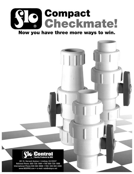 Checkmate Valves - In Use