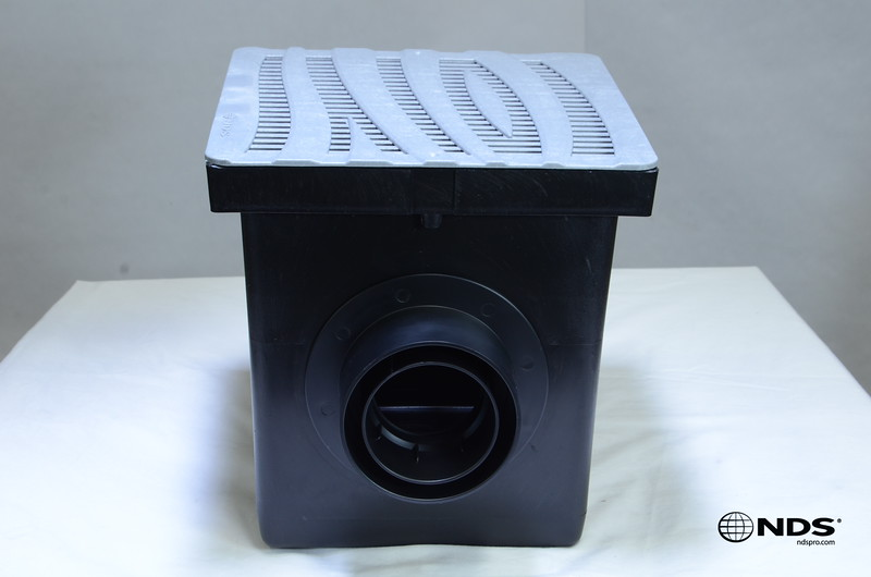 Retail catch basin & outlets with 1224GY grate