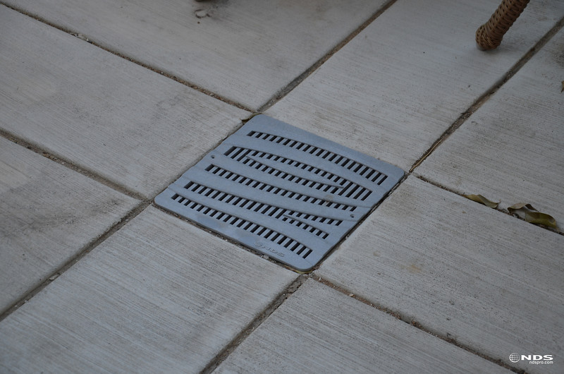 Decorative Catch Basin Grates -- In Use
